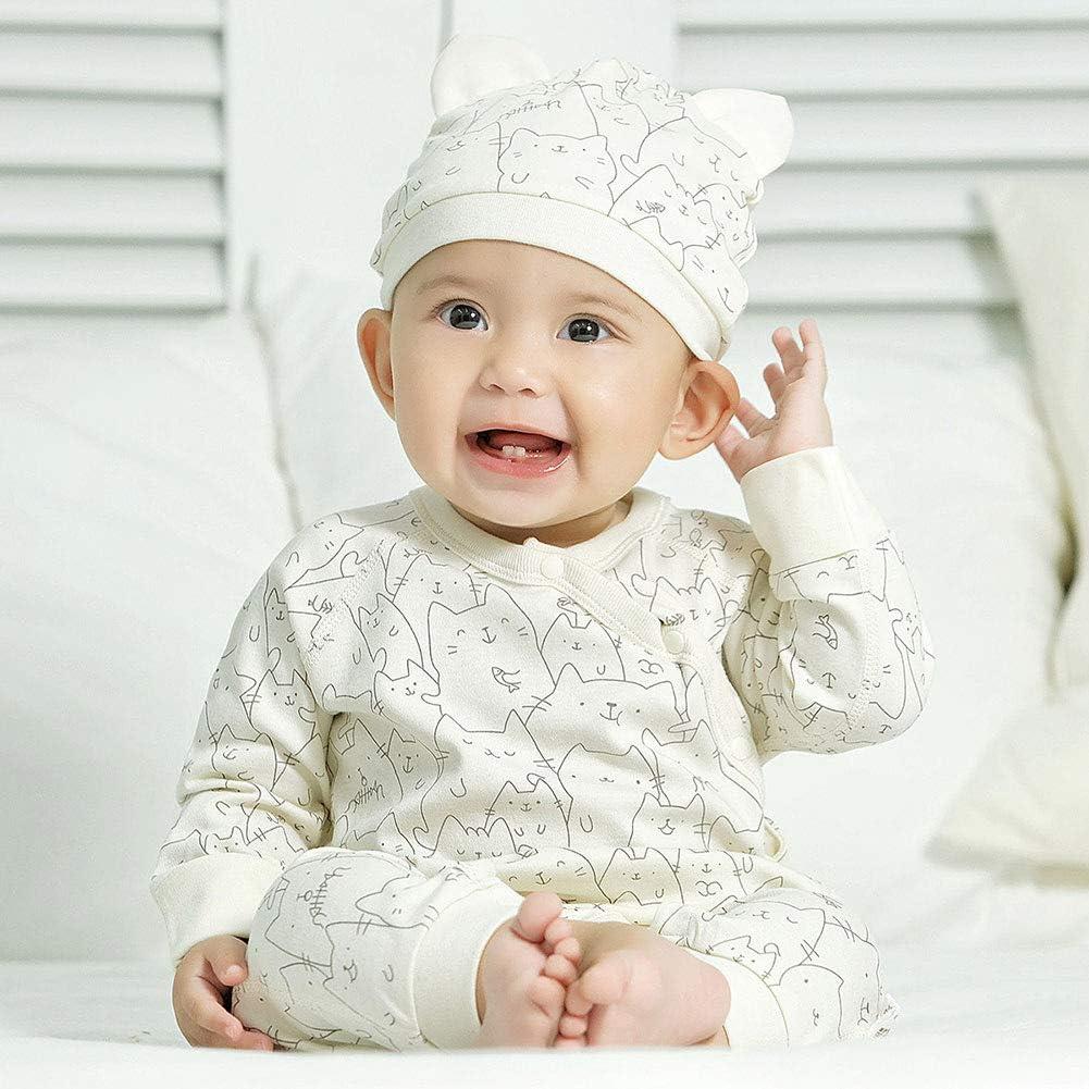 COBROO Newborn Baby Clothes Sleepwear 9-12 Month Baby Girl Boy Romper Cotton Cat Pattern Baby Pajamas Unisex Green
