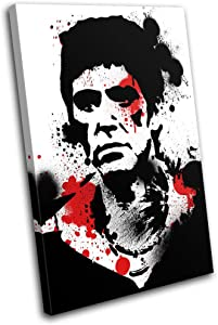 Bold Bloc Design - Scarface Al Pacino Movie Greats 120x80cm SINGLE Canvas Art Print Box Framed Picture Wall Hanging - Hand Made In The UK - Framed And Ready To Hang