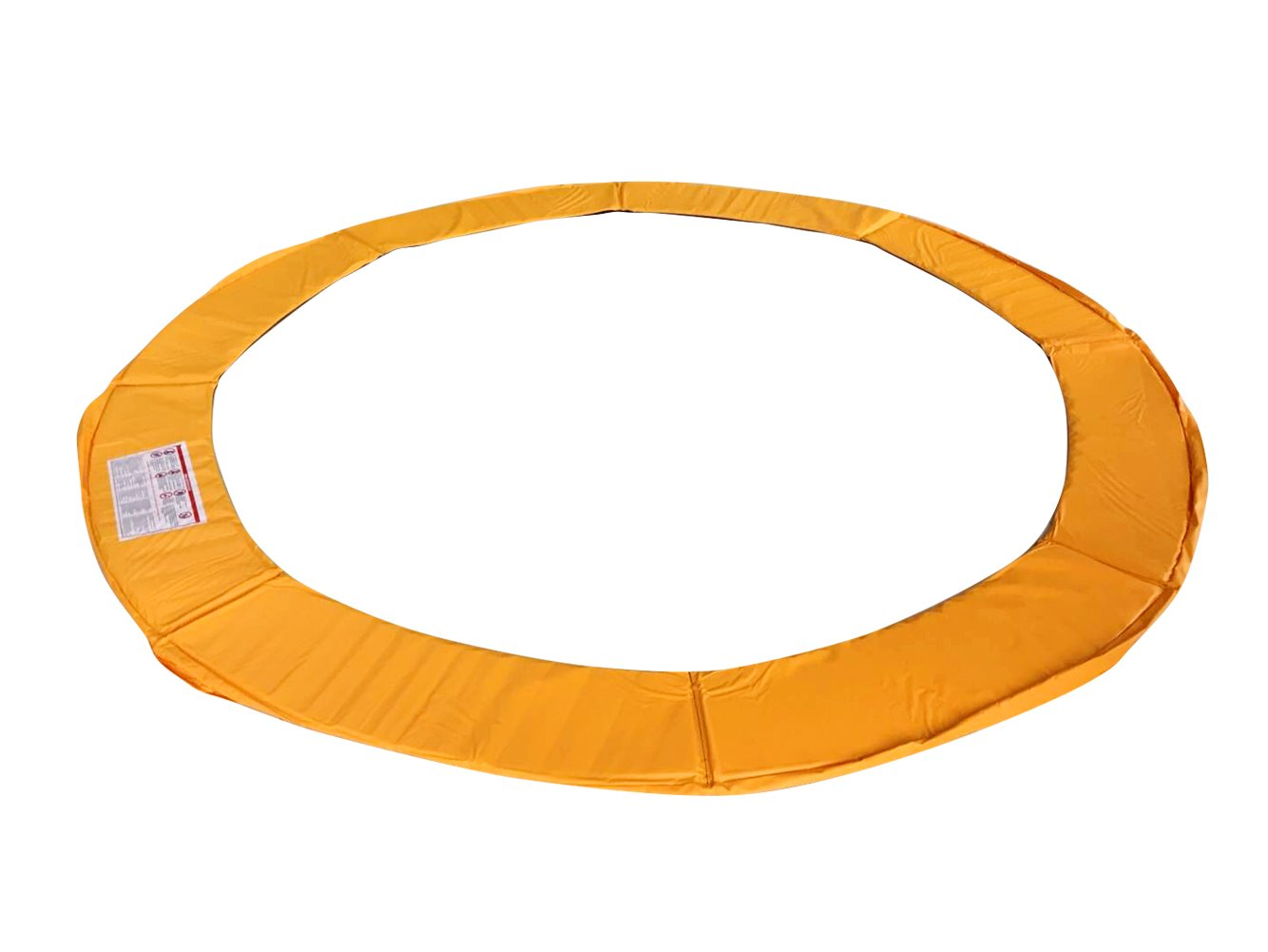 Exacme 16 Feet Trampoline Replacement Safety Spring Cover Round Frame Pad Without Holes, Orange by Exacme