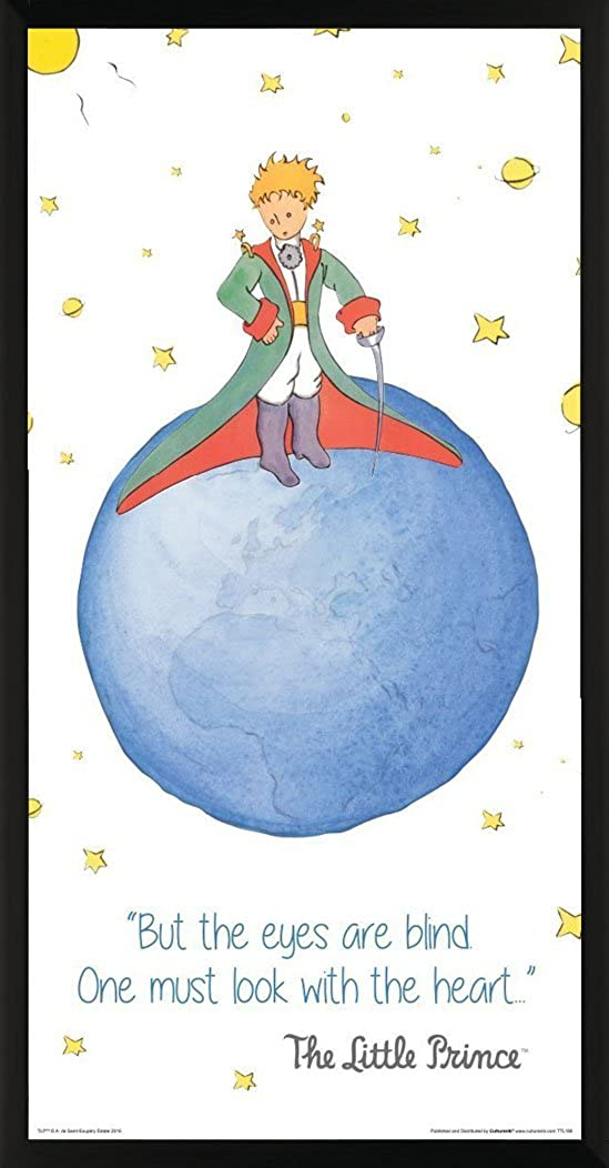 Amazon Com The Little Prince See With The Heart Quote Antoine De Saint Exupery Children S Kids Literary Literature Classic Book Cover Decorative Classroom Art Print Unframed 12x24 Poster Sports Outdoors