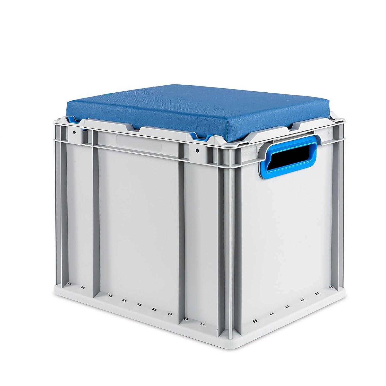 Eurobox Seat Box, Griffe offen, 400x300x320mm, 1 St., blau ab-in-die-BOX.de