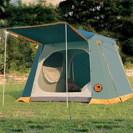 Socly Tienda De CampañA Familiar Ventilada Y Duradera Camping Playa A Prueba Viento Y Resistente Al Agua PortáTil 3-4/5-8 Personas: Amazon.es: Deportes y aire libre
