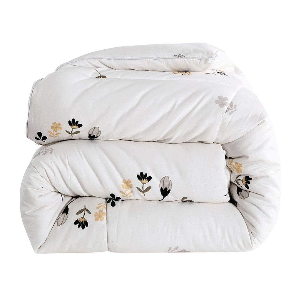秋と冬のコットンキルト厚いソフトキープウォームダブルキルトのコアベッドルームのベッドのライニング (色 : 白, サイズ さいず : 220×240cm(3.5kg)) B07MLHDT59 白 220×240cm(3.5kg)
