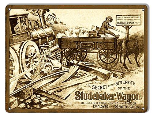Studebaker Wagon Country Reproduction Metal Sign 9x12 - Studebaker Wagon