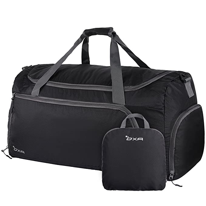 acbeb4f53934 Amazon.com  OXA Lightweight Foldable Travel Duffel Bag with Shoes ...