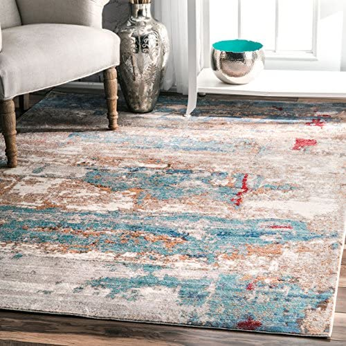 nuLOOM Delisa Abstract Area Rug, 5 3 x 7 7 , Blue