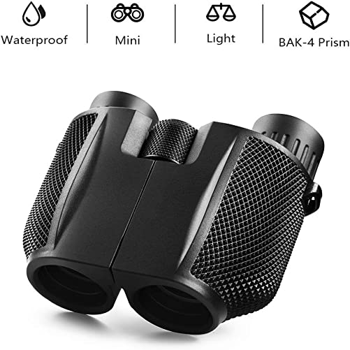 mijiaowatch 10×25 Binoculars for Adults, Compact Folding High Powered Binoculars for Bird Watching Lightweight Binoculars for Outdoor Sports Games and Concerts