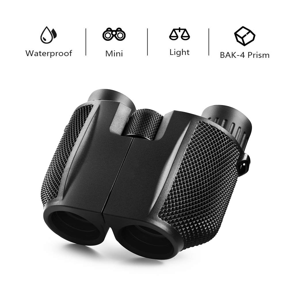 mijiaowatch 10x25 Binoculars for Adults, Compact Folding High Powered Binoculars for Bird Watching Lightweight Binoculars for Outdoor Sports Games and Concerts by mijiaowatch