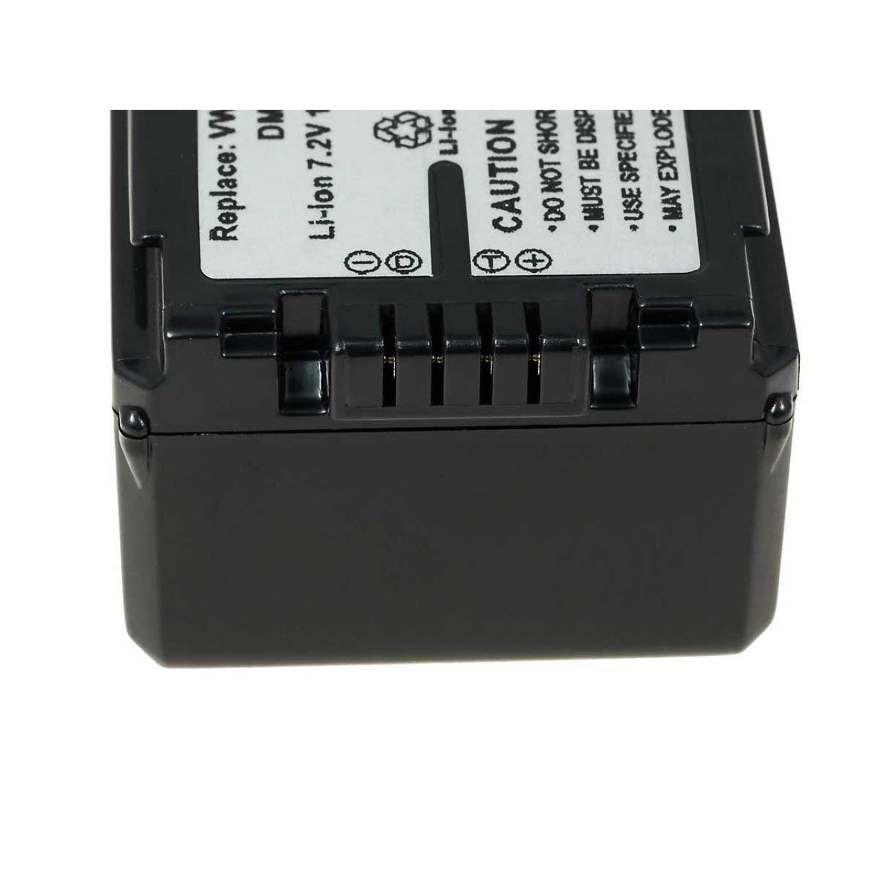Powery Bater/ía para V/ídeoc/ámara Panasonic HDC-SD700 1320mAh