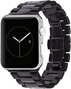 Case-Mate - Metal Linked Band - 42mm 44mm Stainless Steel Apple Watch Band - Apple Watch Series 1, 2, 3, 4, 5 - Black