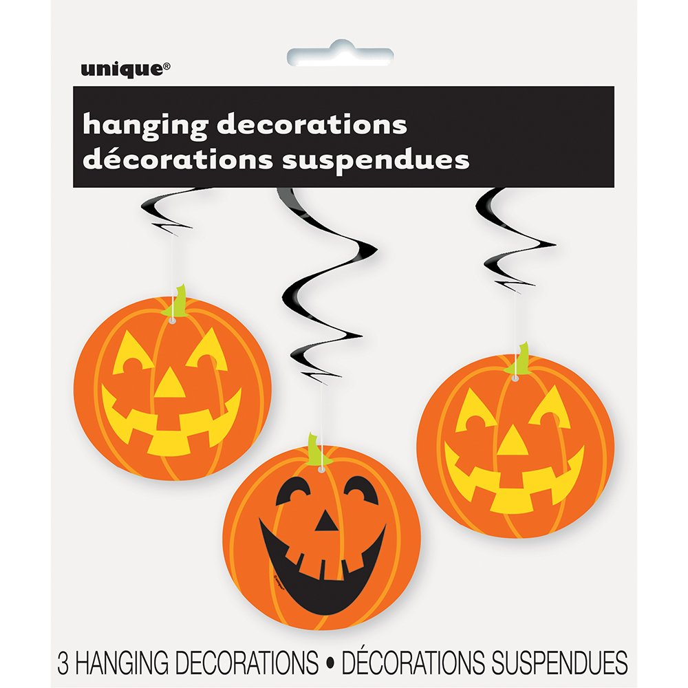 amazoncom 26 hanging pumpkin halloween decorations 3ct kitchen dining - Halloween Hanging Decorations