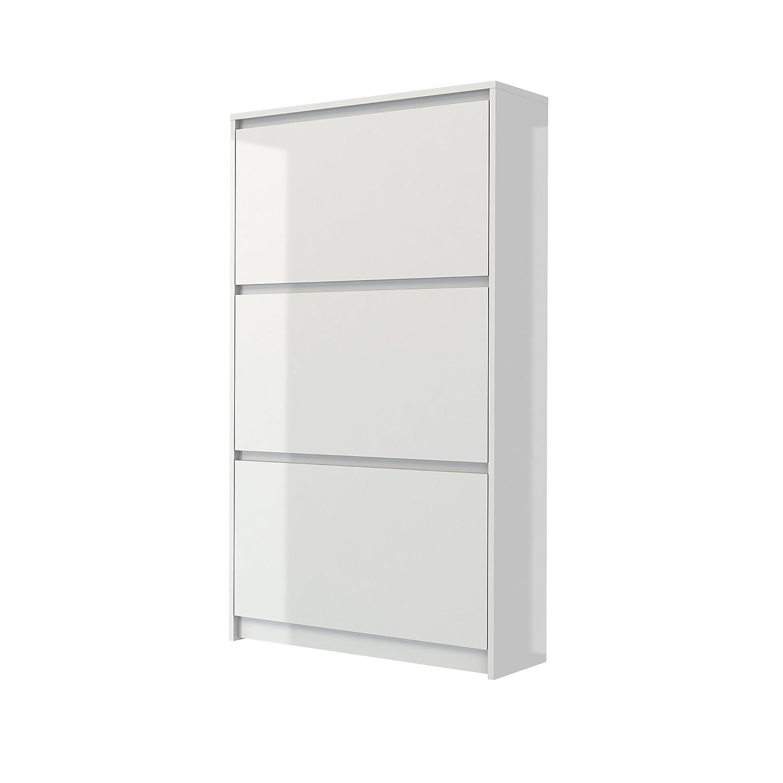 Tvilum 71008uuuu Bright 3 Drawer Shoe Cabinet, White High Gloss