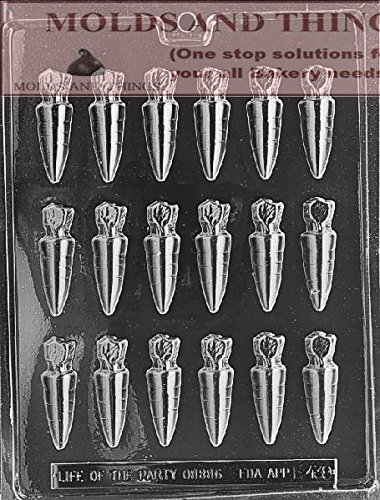 Easter Candy Mold Chocolate (SMALL CARROTS Easter Chocolate candy mold With Copywrited Candy Making Instruction)