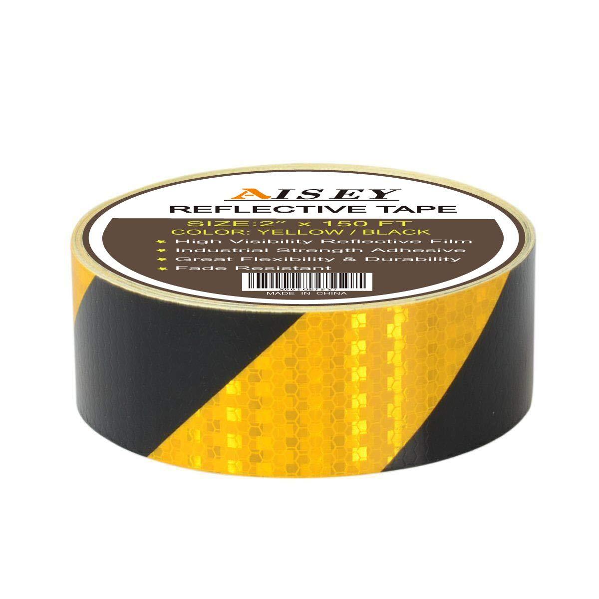 "2"" X 150 Feet Reflective Hazard Caution Stripe Tape"