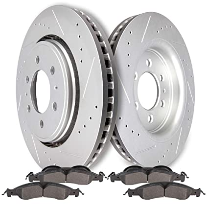 Front+Rear Rotors Ceramic Pads For 2007-2009 Ford Expedition Lincoln Navigator