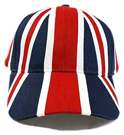 c222e5b85 Adults Union Jack Flag Printed Baseball Cap Hat Adjustable