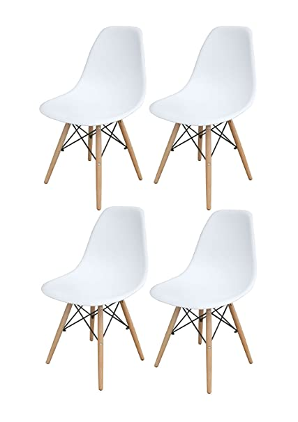 Image Unavailable. Image Not Available For. Color: AmeriHome White Wooden  Leg Accent Chairs ...