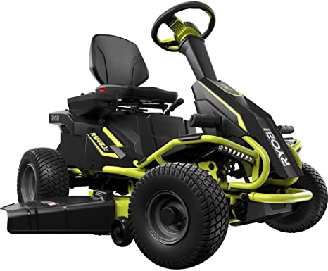 Ryobi 38 inches 100 Ah Battery Electric Rear Engine Riding Lawn Mower