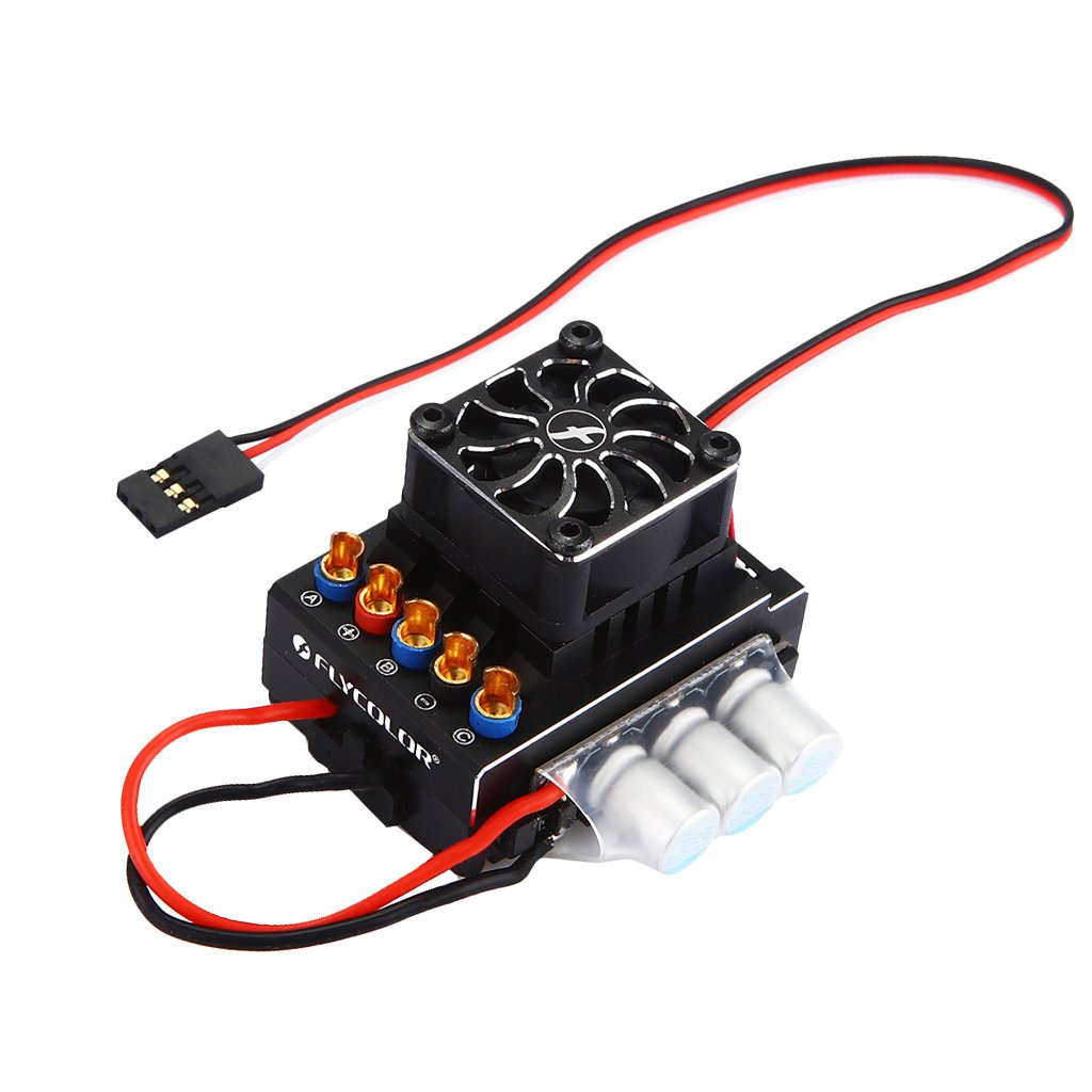 D DOLITY 80A Bürstenloser ESC Regler Elektronischer Geschwindigkeitsregler für 1:10 1:10 1:10 RC Auto 524f9c
