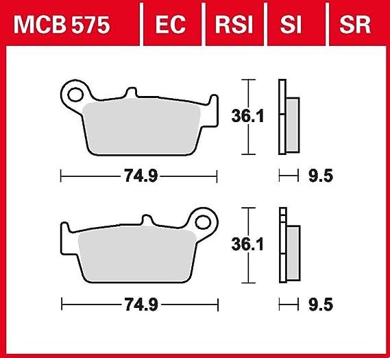 Bremsbelag TRW organischer Allround-Bremsbelag XR 600 R PE04 88-00 vorne