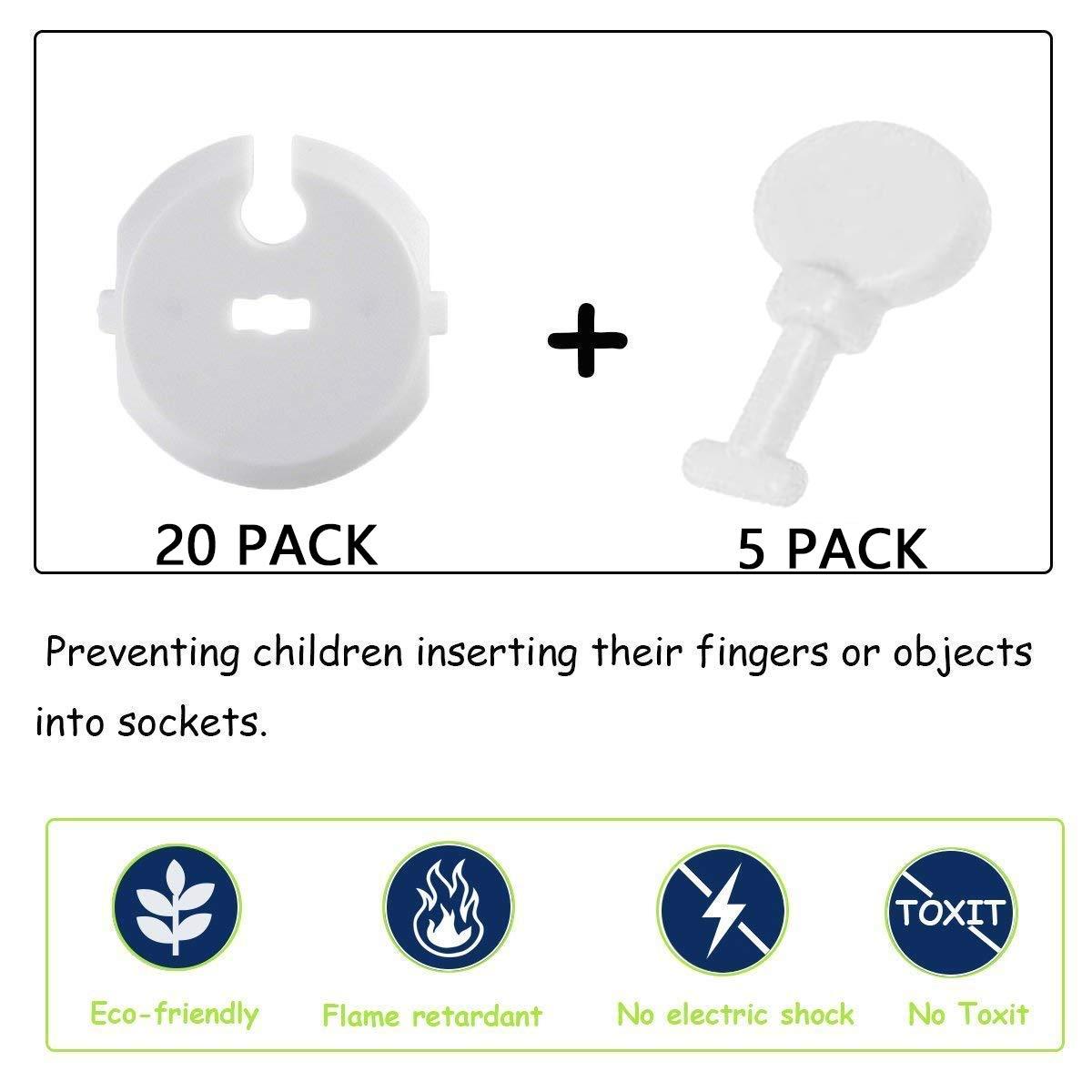 Wemk 4xTischeckenschutz und 25x Steckdosensicherung Sch/ützen Sie ihr Kind und Baby Tischeckenschutz und Kindersicherung f/ür Steckdose Leicht anzubringen