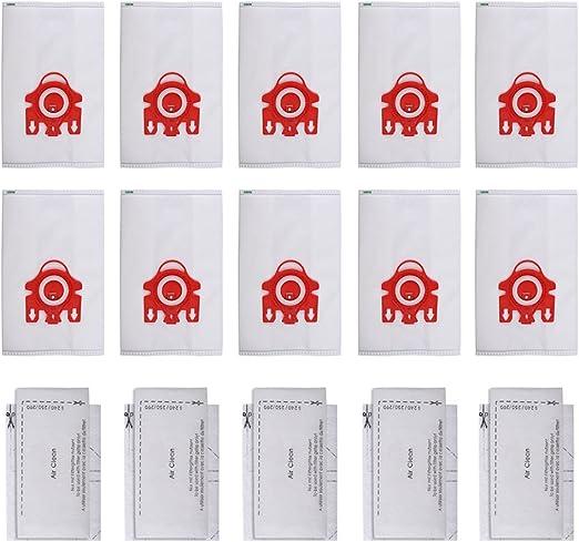 10 Bolsas Recogepolvo FJM HyClean 3D Efficiency y 4 Filtros para Apiradora Miele (10+5), Compatible con Compact C1, C2, S290-S291, S300i-S399, S700-S758, S4000, S6000, por KEEPOW: Amazon.es: Hogar