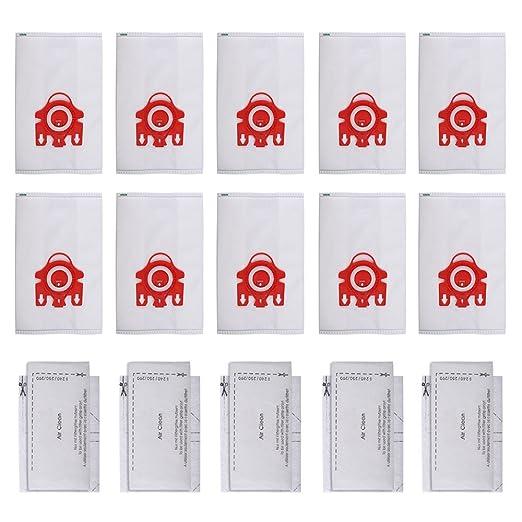 10 Bolsas Recogepolvo FJM HyClean 3D Efficiency y 4 Filtros para Apiradora Miele (10+5), Compatible con Compact C1, C2, S290-S291, S300i-S399, ...