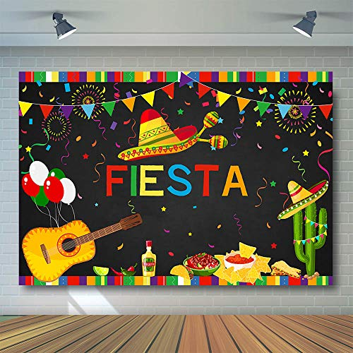 COMOPHOTO Fiesta Birthday Backdrop Mexican Fiesta Themed 1st Birthday Photo Booth Background 7x5ft Vinyl Summer Fiesta Luau Cinco De Mayo Birthday Pool Party Decoration Photography Backdrops Supplies