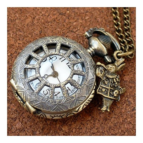 pocket watch necklace pendant charm locket Steampunk rabbit from Unknown