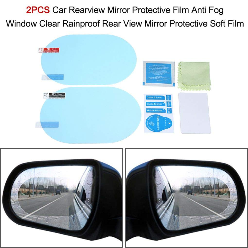 Lidahaotin 1 Pair Hydrophobic Film Rearview Mirror Rainproof Driving Safe Scratch-Resistant Stickers Waterproof Car Mirror Film