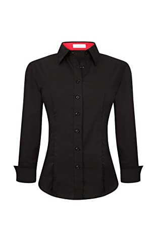Amazoncom Womens Button Down Shirts Long Sleeve Regular Fit Cotton