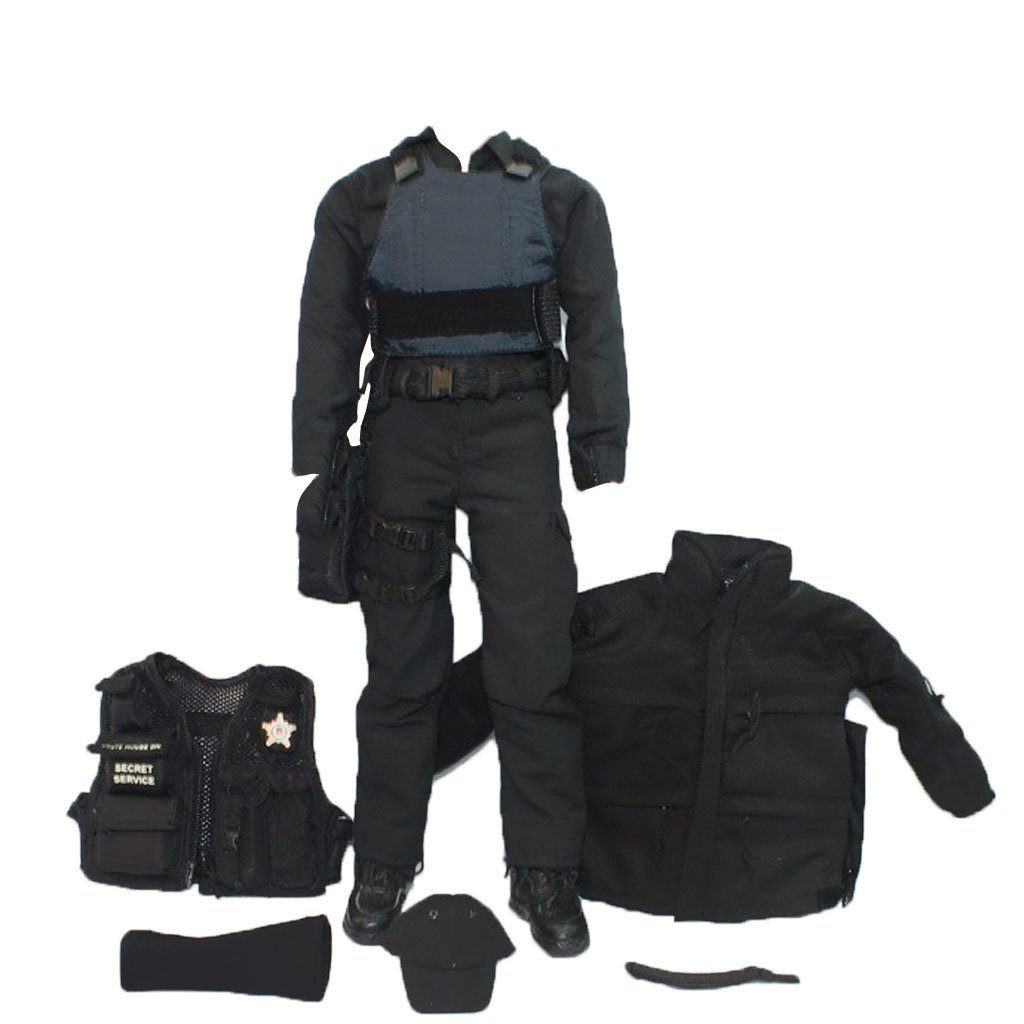 amazon com magideal 1 6 scale swat uniform clothes military army