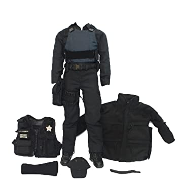 Amazon.com: Magideal 1/6 Escala SWAT Uniforme ropa militar ...