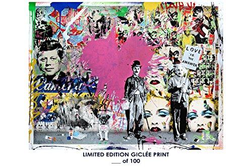 RARE POSTER graffiti MR. BRAINWASH love is the answer 2017 REPRINT giclee #'d/100!! - Brainwash Art Mr