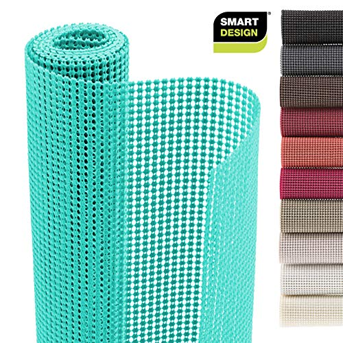 - Smart Design Shelf Liner w/Classic Grip - Wipes Clean - Cutable Material - Non Slip Design - for Shelves, Drawers, Flat Surfaces - Kitchen (12 Inch x 10 Feet) [Mint]