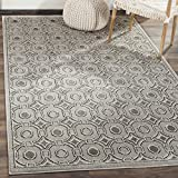 Safavieh Amherst Collection AMT431B Light Grey and Ivory Indoor/ Outdoor Area Rug (8′ x 10′)