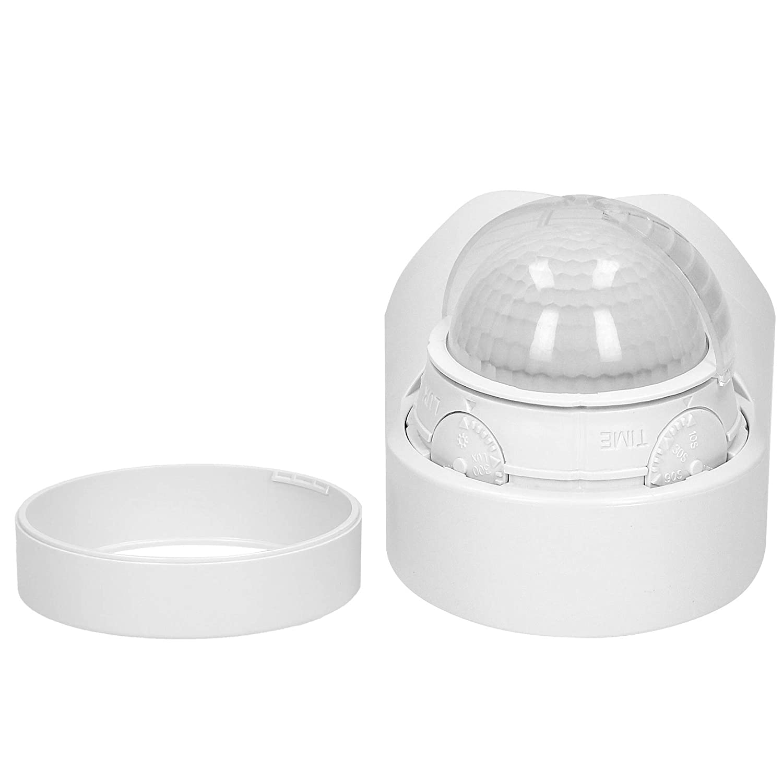 ORNO CR-265 Sensor de Movimiento Exterior Impermeable con Sensor Crepuscular IP65 12m 180/° 1200W Ajuste de tiempo 3 Tipos De Montaje