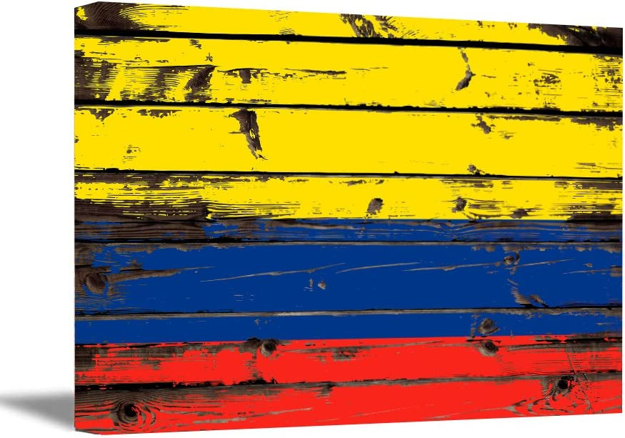 Awkward Styles Country of Colombia Canvas Wall Art Colombia Flag Wall Decoration Patriotic Colombia Gifts Colombian Flag Canvas Home Decor Art 8