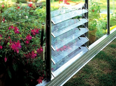 Eden Halls Greenhouses Ltd Eden Louvre Window : Size - 5 Blade (61 X 45.7Cm)
