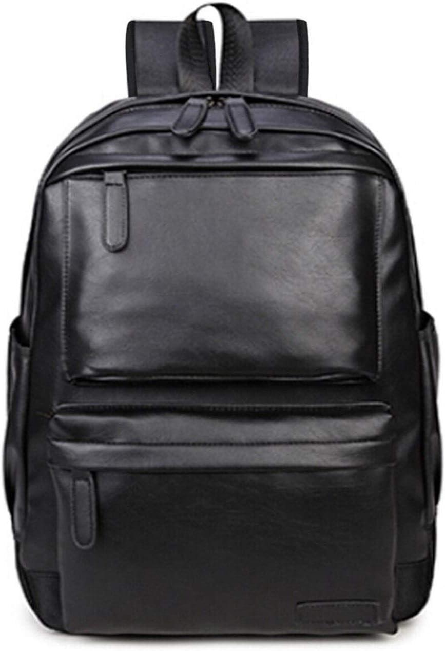 Mens Backpack Laptop Backpack Large Capacity Fashion Backpack Student Backpack Waterproof Rucksack Practical Backpack Color : Black
