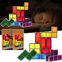 Lámpara de mesa apilable Tetris, lámpara LED Tangram