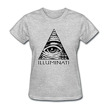 Vogue Diseñado color mujeres Illuminati Logo - negro Casual camiseta tamaño: Amazon.es: Libros
