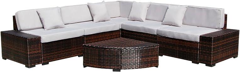 U MAX 7 Pieces Patio PE Rattan Wicker Sofa Sectional Furniture Set