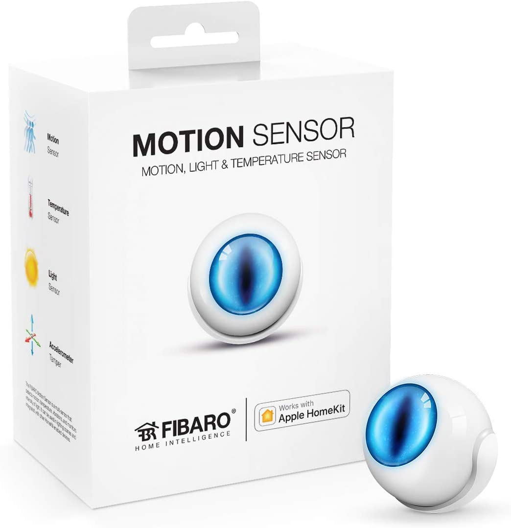 Fibaro USA FGBHMS-001 Motion Sensor, HomeKit-enabled Multi-Sensor