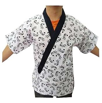 Mujeres Hombres Chaquetas de chef Abrigo Sushi Restaurante Bar Uniforme de ropa japonesa - G: Amazon.es: Hogar