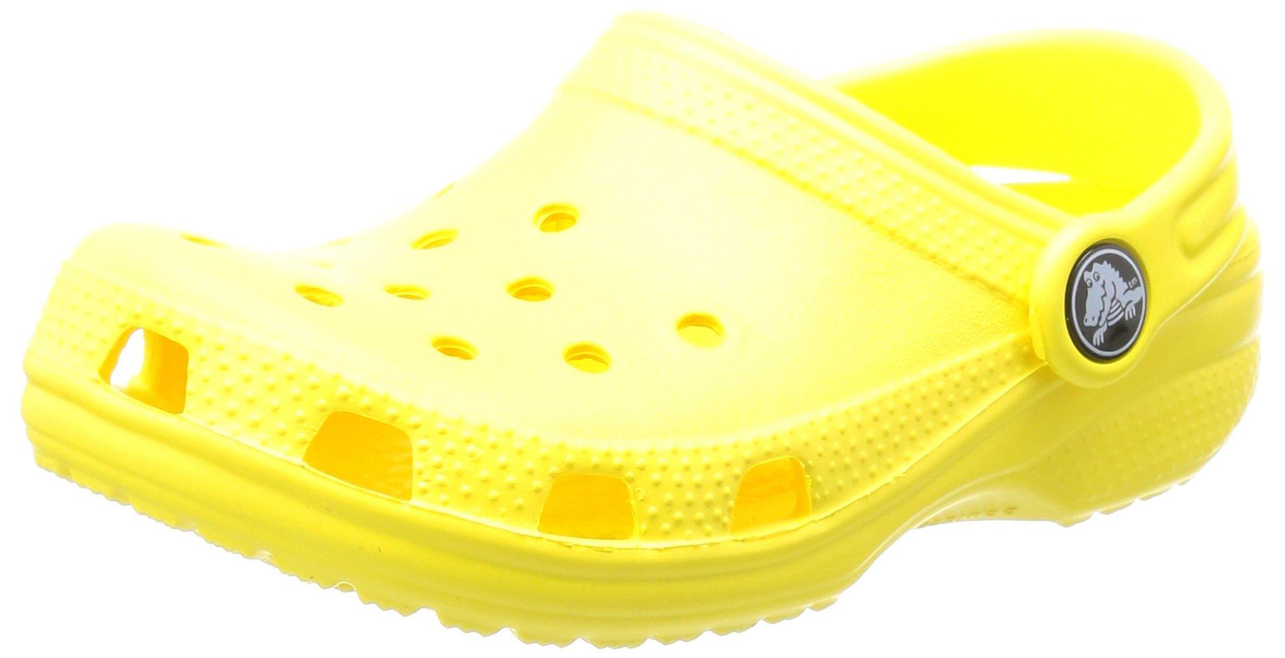 crocs  Unisex kids  Classic K Clog , Sunshine, 2 US Little Kid / 4 US Big Kid