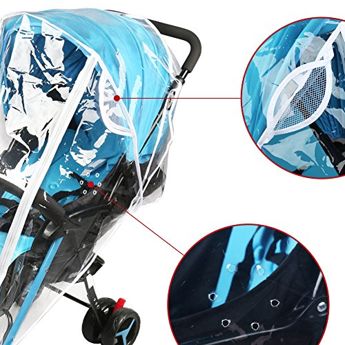 Accmor Universal Baby Stroller Rain Cover, Stroller Weather Shield, Waterproof, Water Resistant, Windproof, See Thru, Ventilation, Food Grade Material by accmor (Image #2)