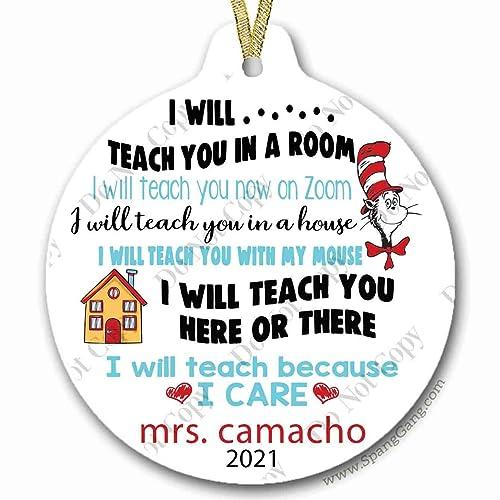 Custom Teacher Ornament Teacher Gift Custom Ornament Teacher Ornament Teacher Appreciation