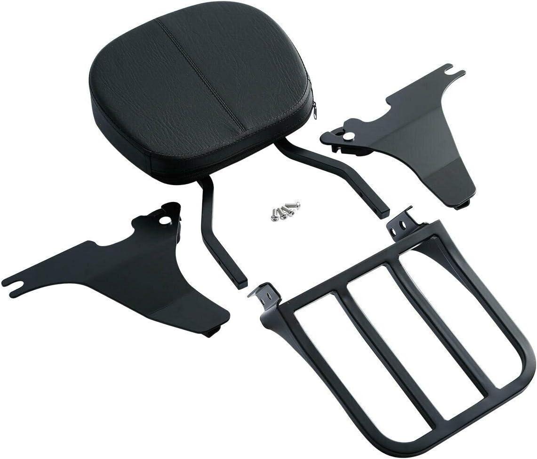 TCMT Chrome Sissy Bar Backrest Luggage Rack With Docking Hardware Kit Fit For Harley Sportster XL 883 1200 2004-2020