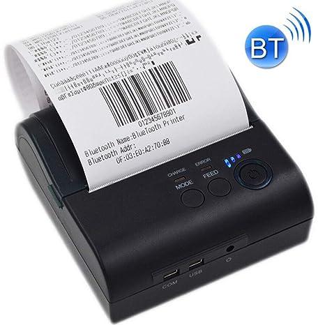 DJG Impresora térmica de Recibos, portátil térmica Impresora de ...